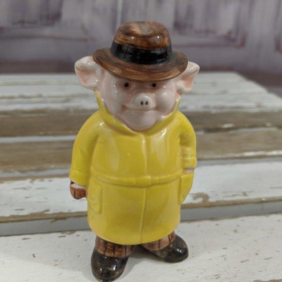 Danbury Mint Piggies Collection Private Sty Detect